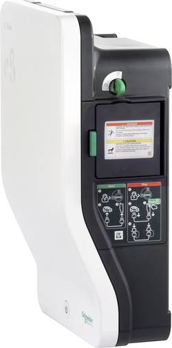 Station de charge EVlink Wallbox eMobility Schneider Electric EVH2S7P02K type 2 mode 2 32 A 7.4 kW interrupteur à clé