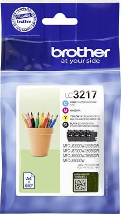 Brother Ink set LC-3217 VALDR d'origine cyan, magenta, jaun