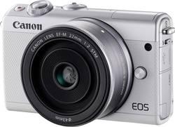 Appareil photo hybride Canon EOS M100 24.2 MPix blanc WiFi, Bluetooth, écran pliable, écran tactile, vidéo Full HD