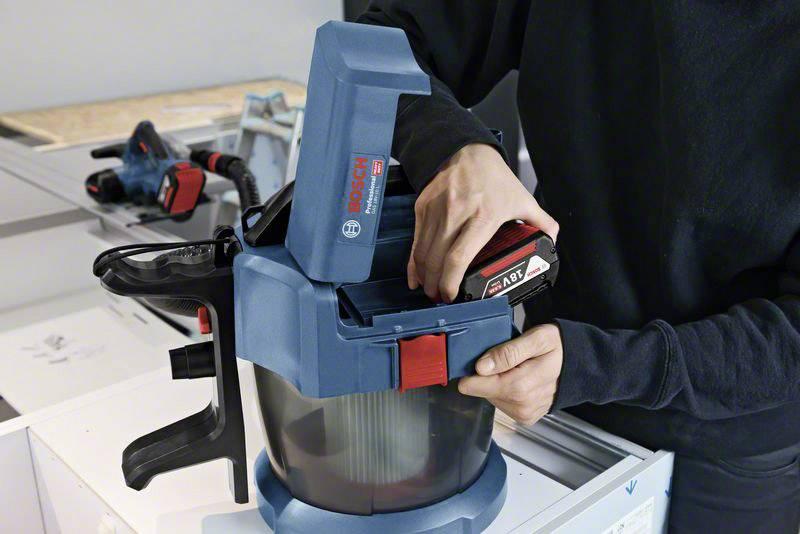 Aspirateur sans fil BOSCH GAS 18V 10 L Professional (Machine