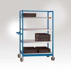 Poignée acier revêtement par poudre bleu brillant Manuflex LV0310.5007