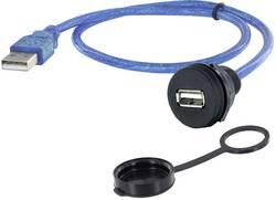 USB 2.0 type A embase femelle de chassis encitech 1310-1018-03 M22 1 pc(s)