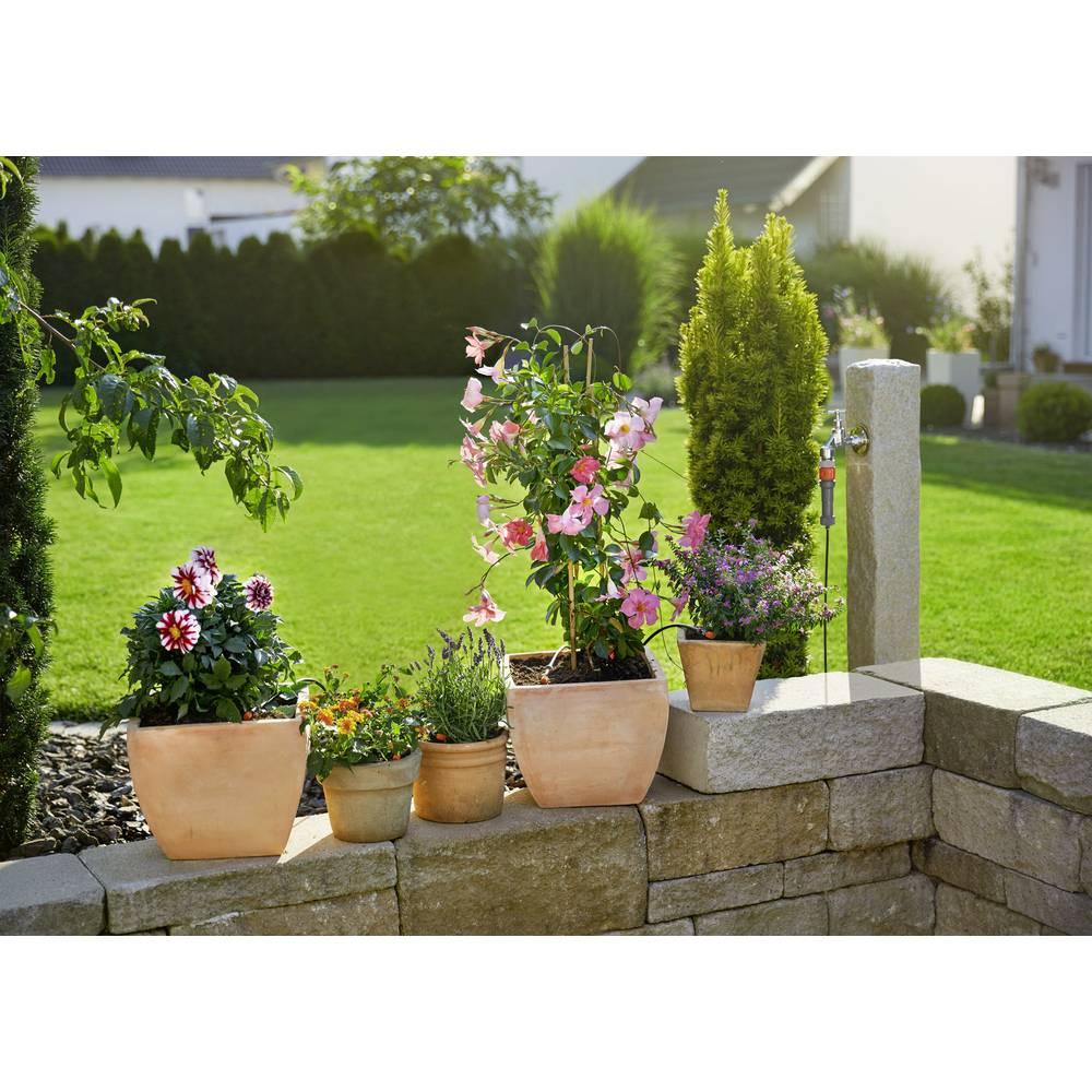 kit de démarrage pour pots de fleurs s gardena micro-drip system