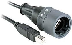 Bulgin USB 2.0 Câble de raccordement [1x USB 2.0 type A mâle - 1x USB 2.0 type B mâle] 2 m noir