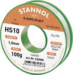 Stannol Fil à souder HS10 2,5 % 1,0 mm Sn99Cu1 CD 100 g N/A