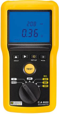 Chauvin Arnoux CA6522 Appareil de mesure d'isolement 250 V, 500 V, 1000 V
