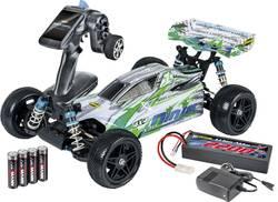 Buggy électrique Carson Modellsport Ninja-Pro X10 brushed 2,4 GHz 4 roues motrices 100% RtR avec accu, chargeur et piles