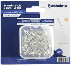 Assortiment de LEDs 3 mm Barthelme 00430336 blanc incolore rond 9000 mcd 25 ° 20 mA 3 V 100 pc(s)