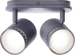 Spot de plafond LED 10 W blanc chaud Brilliant G73129/22 gris foncé intensité variable via un interrupteur, pivotable, i
