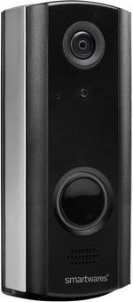 Smartwares DIC-23216 Interphone vidéo IP radio, Wi-Fi Station extérieure 1 foyer noir-argent