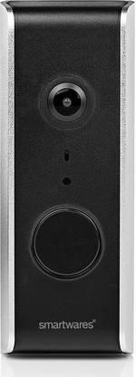 Smartwares DIC-23112 Interphone vidéo IP radio, Wi-Fi Station extérieure 1 foyer noir-argent