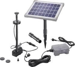 Set pompe solaire 160 l/h Esotec 101685 avec accumulateur de batterie, avec éclairage