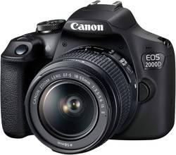 Appareil photo reflex numérique Canon EOS-2000D avec EF-S 18-55 mm IS II 24.1 Mill. pixel viseur optique, avec flash int