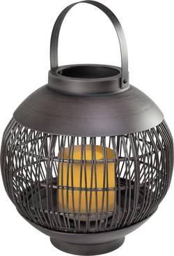 Lampe LED décorative Polarlite Rattan 220 PL-8372785 éclairage scintillant, fonction de programmation 0.06 W noir 1 pc(
