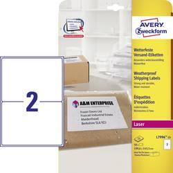 Avery-Zweckform L7996-25 Etiquettes A4 199.6 x 143.5 mm film de