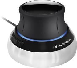 Souris 3D optique 3Dconnexion SpaceMouse Compact noir,argent