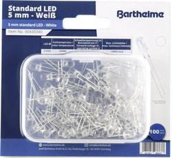 Assortiment de LEDs 5 mm Barthelme 00430340 blanc froid rond 14000 mcd 35 ° 20 mA 3 V 100 pc(s)