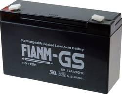 Batterie au plomb 6 V 12 Ah Fiamm PB-6-12 plomb (AGM) (l x h x p) 151 x 99 x 50 mm connecteur plat 4,8 mm sans entretien