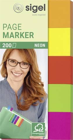 Sigel marquage adhésif HN650 5 blocs/pack jaune, vert, orange, rose, rouge