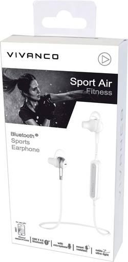 Vivanco SPORT AIR FITNESS W Bluetooth sport Micro-casque stéréo résistant à la sueur blanc