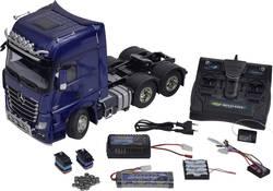 Tamiya 330056354 Mercedes Benz Actros 3363 Pearlblau 1:14 électrique Camion RC pack économique pré-peint, set exclusif