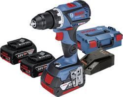 Perceuse-visseuse sans fil Bosch Professional 0615990K6G 18 V 4 Ah Li-Ion + 3 batteries, + mallette