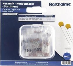Assortiment de condensateurs céramiques sortie radiale 50 V/DC Barthelme 100 pc(s)