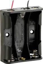 Velleman BH331A Support de pile 3 LR6 (AA) câble (L x l x h) 58 x 48 x 17 mm