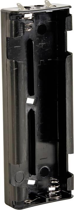 Velleman BH261D Support de pile 6 LR14 (C) connexion à souder (L x l x h) 159 x 57 x 25 mm