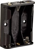 Velleman BH331D Support de pile 3 LR6 (AA) connexion à souder (L x l x h) 58 x 48 x 17 mm
