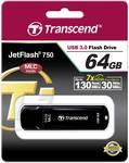 Clé USB Transcend JetFlash™ 750K 64 Go USB 3.0 noir