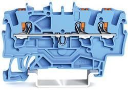 Borne de passage WAGO 2201-1304 4.20 mm Push-In bleu 100 pc(s)