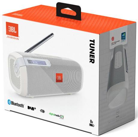 Enceinte Bluetooth JBL Tuner JBLTUNERWHTEU Radio FM blanc 1 pc(s)
