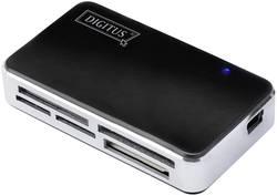 Lecteur de carte mémoire externe Digitus USB 2.0 noir-argent