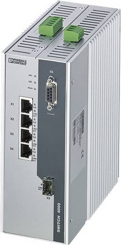 Commutateur Ethernet industriel Phoenix Contact FL SWITCH 4000T-4POE-SFP 1026924 1 pc(s)
