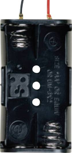 Takachi SN32 Support de pile 2 LR6 (AA) câble (L x l x h) 57.6 x 31.2 x 15.2 mm