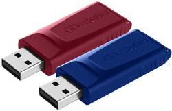 Verbatim Slider Clé USB 32 Go rouge, bleu 49327 USB 2.0