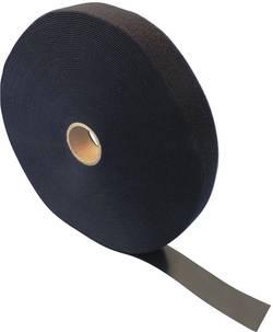 Bande auto-agrippante Fastech T0601599991125 pour grouper partie velours et partie crochets (L x l) 25000 mm x 15 mm noi