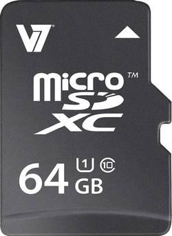 Carte microSDXC V7 Videoseven VAMSDX64GUHS1R-2E 64 Go Class 10 UHS-I