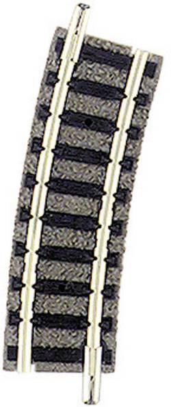 Voie courbe Fleischmann 9122 Voie N Fleischmann piccolo (avec ballast) 1 pc(s)