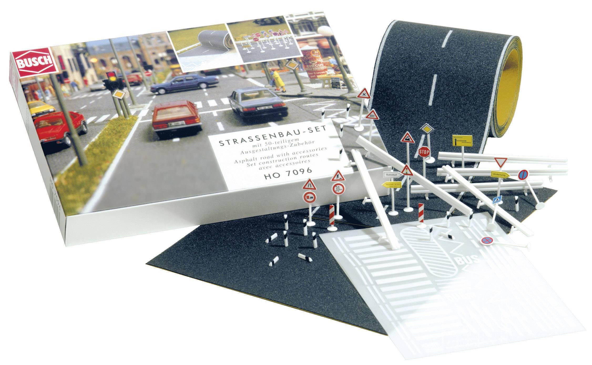 etc. panneaux de signalisation asphalte route 80 mm asphalte Place Busch 7096 h0 routes-Set