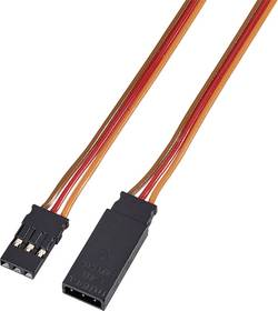Câble rallonge servo Modelcraft 59274 [1x JR mâle - 1x JR femelle] 0.35 mm² silicone, torsadé 1000 mm