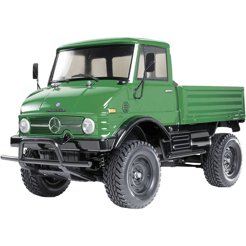 v hicule tout terrain lectrique tamiya unimog 406 brushed 4 roues motrices kit monter 1 10. Black Bedroom Furniture Sets. Home Design Ideas