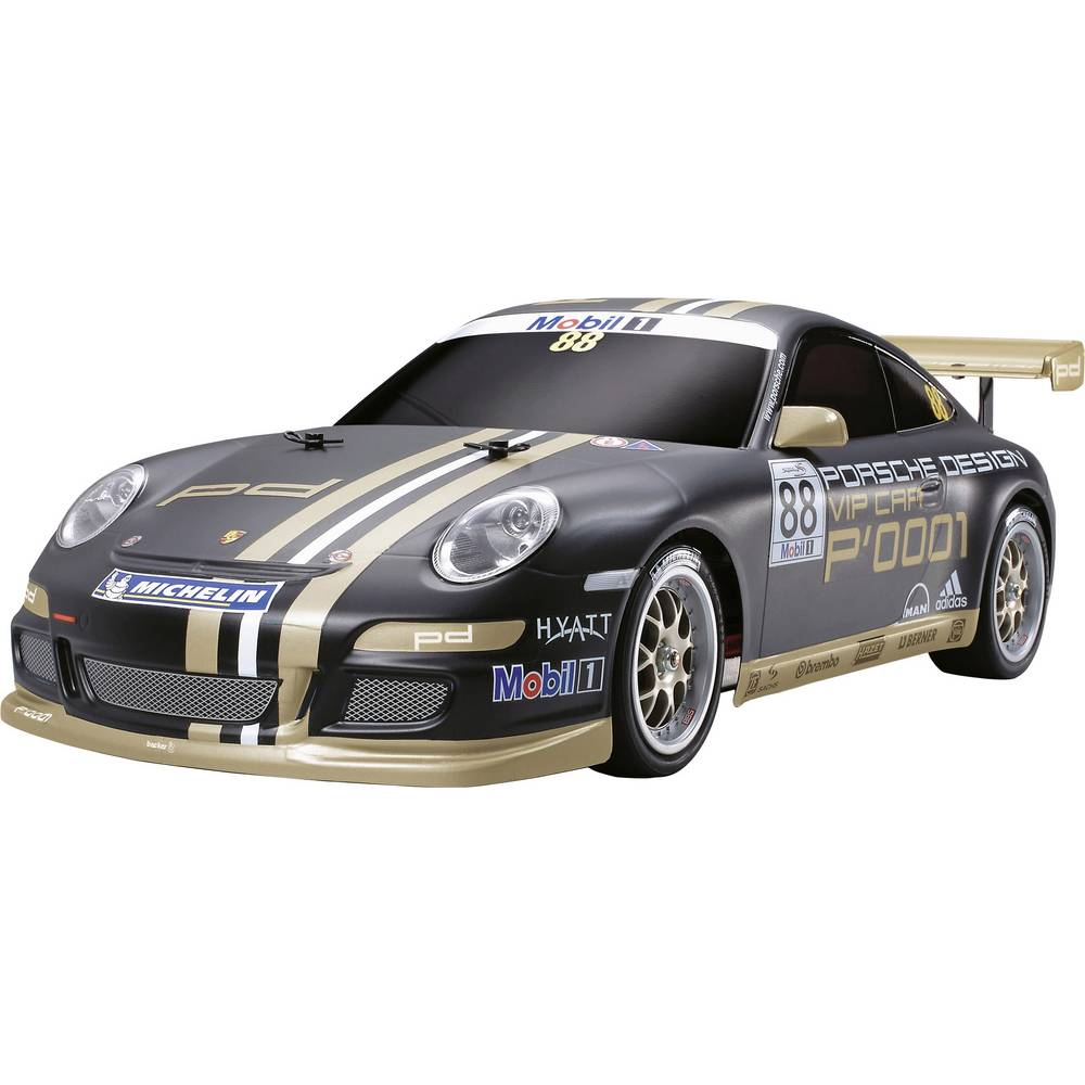 voiture de tourisme lectrique tamiya porsche 911 gt3 cup vip 2007 58407 4 roues motrices. Black Bedroom Furniture Sets. Home Design Ideas