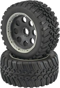 Roues complètes Fighter pour Buggy Reely 112231C 6 rayons noir 1:6 2 pc(s)