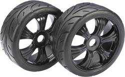 Roues complètes Street pour Buggy Absima 2530003 6 rayons noir 1:8 2 pc(s)