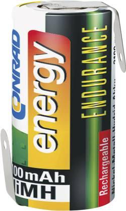 Conrad energy Endurance ZLF Pile rechargeable spéciale Sub-C cosses à souder en Z NiMH 1.2 V 3000 mAh