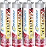 Accu LR03 (AAA) NiZn 1.6 V Conrad energy 4AAA900mWh1.6V 550 mAh 4 pc(s)