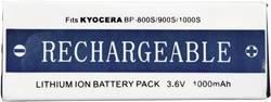 Batterie pour appareil photo Conrad energy 252154 3.6 V 1000 mAh