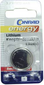 Pile bouton rechargeable lithium 3.6 V Conrad energy LIR2450 120 mAh 1 pc(s)